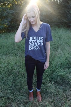 Jesus Saves Bro Tee Use code LaurenL10 for 10% off!!