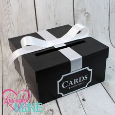 Card Holder Box With Sign In Black White Gift Money Wedding