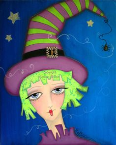 Whimsical Witch Funky by Joann Loftus