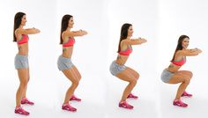 5 best workout for tone legs and slim thighs. Find out here easy exercises to lose thigh fat and tone legs fast at home to give amazing looks for your legs. Squat Workout, Tummy Workout, Toning Workouts, Easy Workouts, Squat Exercise, Tummy Exercises, Burn Thigh Fat, Burn Belly Fat, Abs Workout Routines