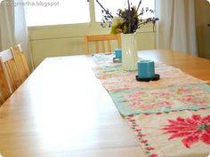 Vintage table runner- easy to make!