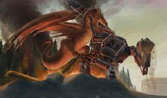 Mecha Knight vs Dragon by eatalllot.deviantart.com on @DeviantArt