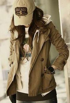 Korean Star Fashion Fake Two-piece Double Breasted Coat -- I love korean clothes. Star Fashion, Look Fashion, Korean Fashion, Womens Fashion, Fashion 2014, Latest Fashion, Queer Fashion, Fashion Styles, Fashion Ideas