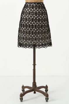 Anthropologie Dilated Lace Skirt