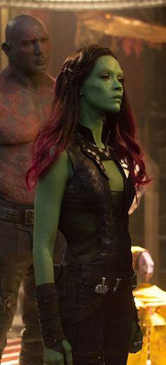 Zoe Saldana stars as Gamora in Marvel's Guardians of the Galaxy