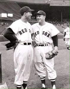 Harry Agganis and Jackie Jensen Boston Baseball, Baseball Pictures, Boston Sports, Boston Red Sox, Mlb Players, Sports Photos, Major League, Athletes, Man Cave