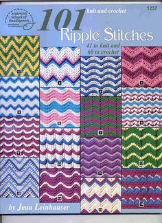 101 Ripple Stitches to Knit and Crochet - Nicoleta Danaila - Álbuns da web do Picasa.. Free book!