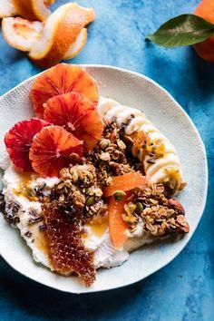 Winter Citrus Ricotta Breakfast Bowl with Honeycomb | halfbakedharvest.com @hbharvest