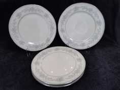 """Mikasa Dresden Rose Dinner Plate L9009 10 5/8"""" FOUR in Pottery & Glass, Pottery & China, China & Dinnerware 