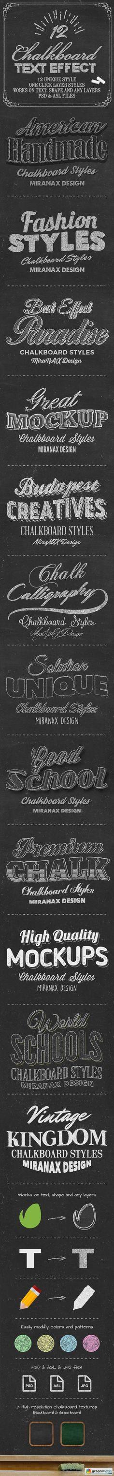 Chalkboard Photoshop PSD Layer Styles