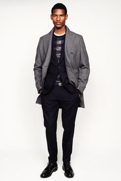 J.Crew 2014 Fall/Winter Collection: Though a widely distributed and accessible design label, J.Crew keeps up with its contemporaries Sharp Dressed Man, Well Dressed Men, Vogue Paris, Men's Collection, Winter Collection, Coat Style For Man, Black Dancers, Mens Trends, J Crew Men