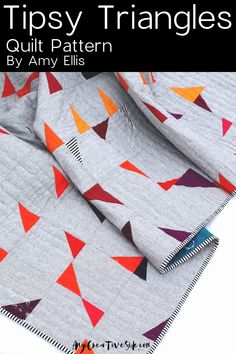 A fresh approach to a triangle quilt! A planned palette and block size gives enough structure for beginning quilters but allows for flexibility and makes a great intro to improv quilting. Beginner Quilt Patterns, Quilting For Beginners, Quilting Tips, Quilting Tutorials, Quilting Patterns, Easy Quilts, Mini Quilts, Triangle Quilt Pattern, Triangle Quilts
