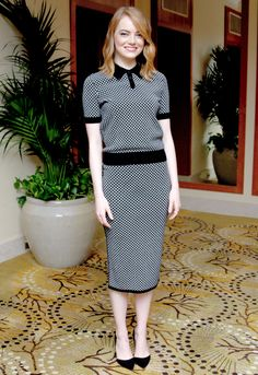 Emma Stone at the 'Irrational Man' Press Conference.