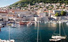 Lataa kuva Dubrovnik, Jahdit, Kroatia, bay, kesällä, loput
