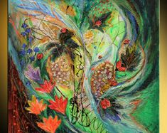 40 figurativa pintura abstracta en lona morado color