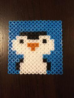 Hama bead penguin coaster