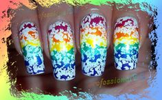 UNICORN DROOL! Awesome nail art... so easy!