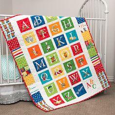 Handmade Dr. Seuss ABC Alphabet Baby Crib or Toddler Quilt