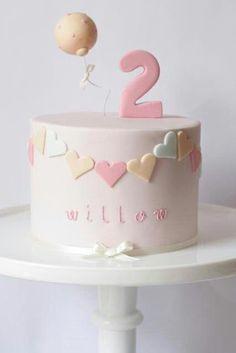 1st Birthday Cake For Girls, Baby Birthday Cakes, 2 Year Old Birthday Cake, 30th Birthday, Pretty Cakes, Cute Cakes, Pretty Kids, Birthday Cake Decorating, Girl Cakes