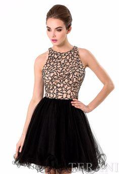 Terani Embellished Dress With Tutu Skirt