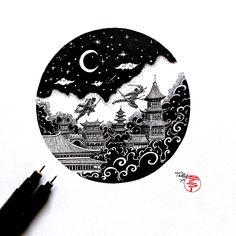 by Timi Tellér https://www.instagram.com/timi_teller/ #tattoo #bw #black #blackandwhite #beautiful #japan #miyazaki #dragon #amazing #blackwork #chihiro #design #tattoodesign #sketch #art #artwork #artist #night #inspiration #creative #drawing #draw #ninja #fight #shogun #amazing
