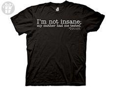 Big Bang Theory I'm Not Insane Mens Tee (Small) (*Amazon Partner-Link)