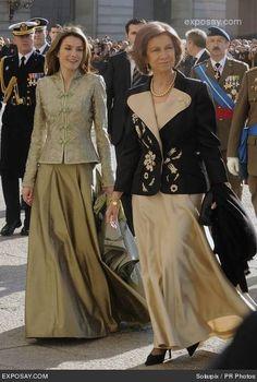 Princess Letizia of Spain and Queen Sofia