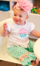 fun monogrammed kids stuff...I want a lil girl so bad!..I love this outfit