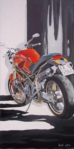 Una moto e la sua ombra - GiostefanGiostefan
