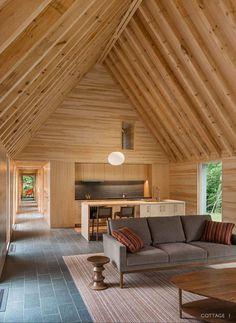 Пять коттеджей (Marlboro Music: Five Cottages) в США от HGA Architects.