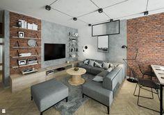 Salon styl Industrialny - zdjęcie od KOLORUM - Salon - Styl Industrialny - KOLORUM