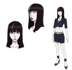 Death Parade Anime: Asami Seto (Tari Tari, Valvrave the Liberator) as Black-Haired Woman, a clerk who works at Queen Dekim. Along with Dekim, she keeps an eye on the guests. She's strong of spirit and says what she thinks.