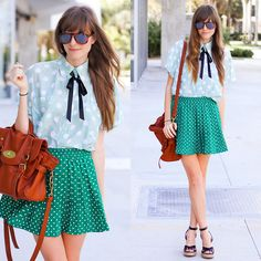 DOTS + DOTS ❤ (by Steffy Kuncman) http://lookbook.nu/look/3611351-DOTS-DOTS