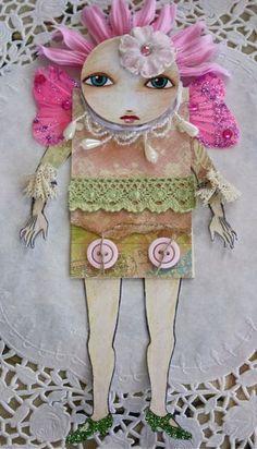 mixed media doll