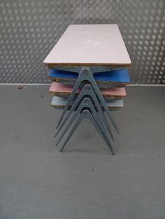 20th century at Tuderhoff: Some lovely James Leonard formica and steel vintage desks