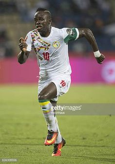 Sadio Mane of Senegal during the Group B match between Senegal and Zimbabwe at Stade Franceville on January 19 2017 in Franceville Gabon