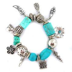 Metallic Mermaid - Charm bracelet – Jc & Crew Pandora Charms, Mermaid, Metallic, Jewelry Making, Charmed, Clothes For Women, Bracelets, How To Make, Crafts