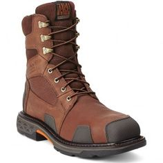 10012940 Ariat Men's Overdrive SQ Safety Boots - Brown www.bootbay.com