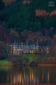 Evening at Tigh Mor Hotel, Loch Achray, The Trossachs, Scotland.
