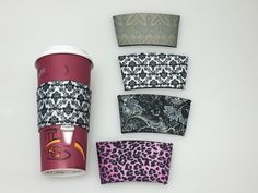Insulated Reusable Coffee Sleeve by GlitzdGifts on Etsy