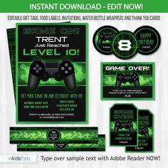 Printable video game birthday invitation template diy video game video game birthday party invitations video game invitations stopboris Images