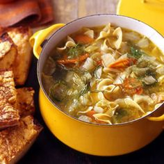 Vegetable Soup with Fennel and Pine-Nut Toasts   Rachael Ray Every Day