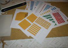 Montessori Pdf, Tutorial, Maths, Flower, Bead, Numeracy, Chart, School, Flowers
