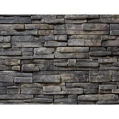 exterior Stone Tile - 4 in x 16 in 8 sq ft Manufactured Stone per Carton) Stone Siding Panels, Faux Stone Siding, Stone Wall Panels, Stone Veneer Panels, Faux Brick Panels, Brick Paneling, Stone Walls, Stone Veneer Exterior, Exterior Siding