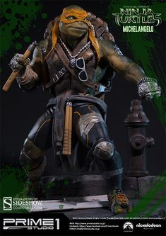 The Michelangelo Polystone Statue by Prime 1 is now available at Sideshow.com for fans of Teenage Mutant Ninja Turtles.
