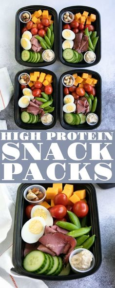 Snack Pack - Lunch Meal Prep High protein snacks perfect for when you're on the go!High protein snacks perfect for when you're on the go! Healthy Protein Snacks, Healthy Meal Prep, Healthy Drinks, Healthy Eating, Healthy Recipes, Keto Recipes, Healthy Food, High Protein Meal Prep, Protein Packed Snacks