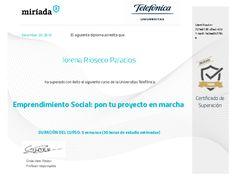 Diploma de superación Emprendimiento social Map, Badge, Socialism, Learning, Social Enterprise, Project Management, Colleges, Health, Management