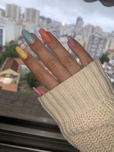 Almond Acrylic Nails, Fall Acrylic Nails, Almond Nails, Winter Nail Art, Winter Nails, Long Red Nails, Wedding Nail Polish, Nailart, Nail Polish Designs