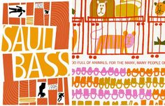 Saul Bass. the man with the golden arm meets the zoo?