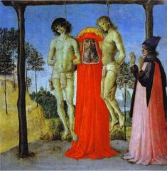 Pietro Perugino >> St. Jerome Supporting Two Men on the Gallows
